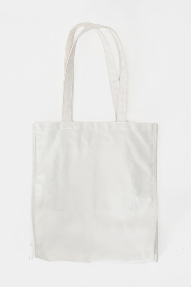 ARCADE SCRIPT LOGO TOTE BAG IN WHITE