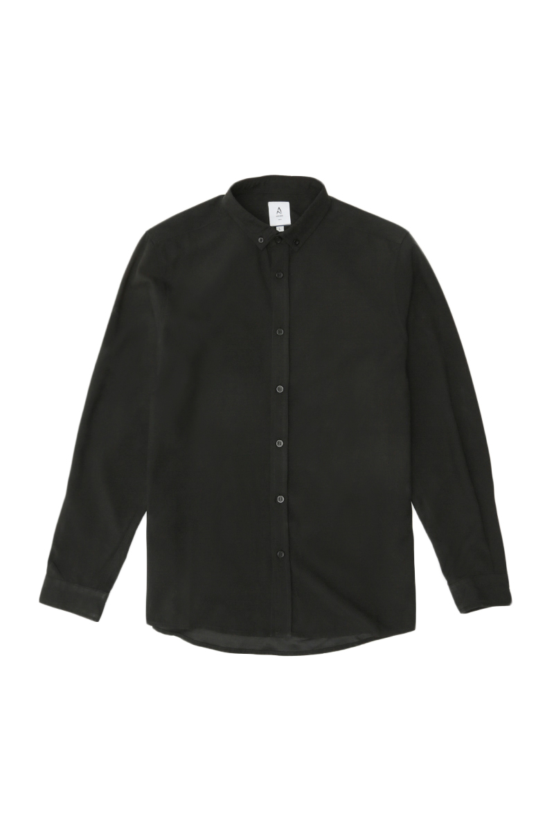 FORD LONG SLEEVE BUTTON-DOWN SHIRT IN JET BLACK