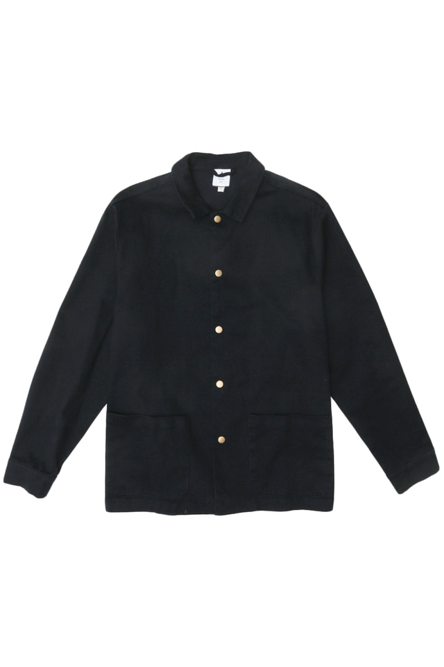 MORRIE PATCH POCKET SHIRT JACKET IN NAVY