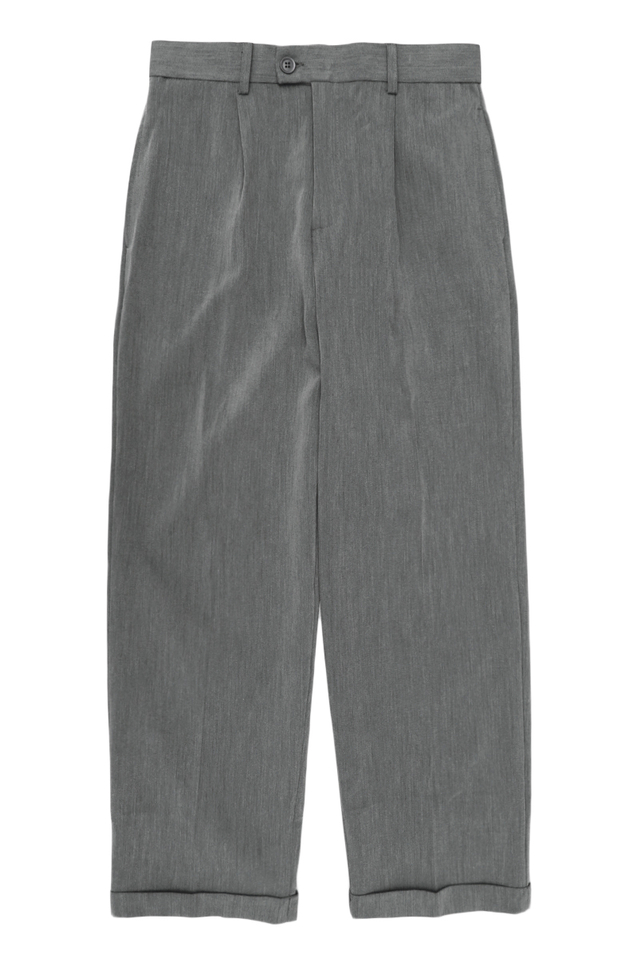 LEE WIDE-LEG CUFFED TROUSERS IN GREY
