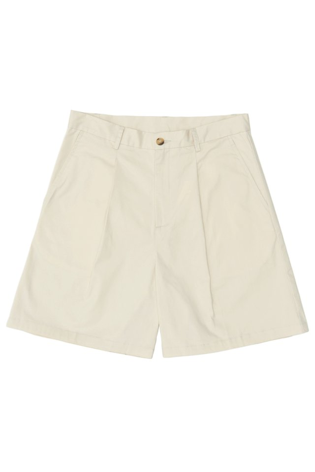 ARCADE x JUWAIDIJUMANTO CHINO SHORTS IN BONE