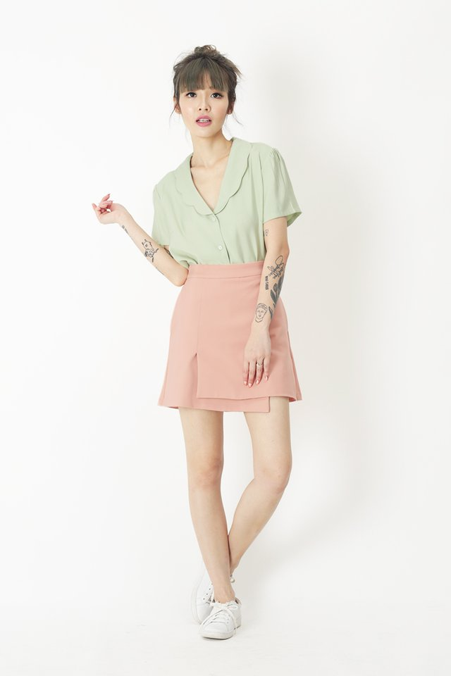 LIA OVERLAP SKORTS IN FRENCH PINK
