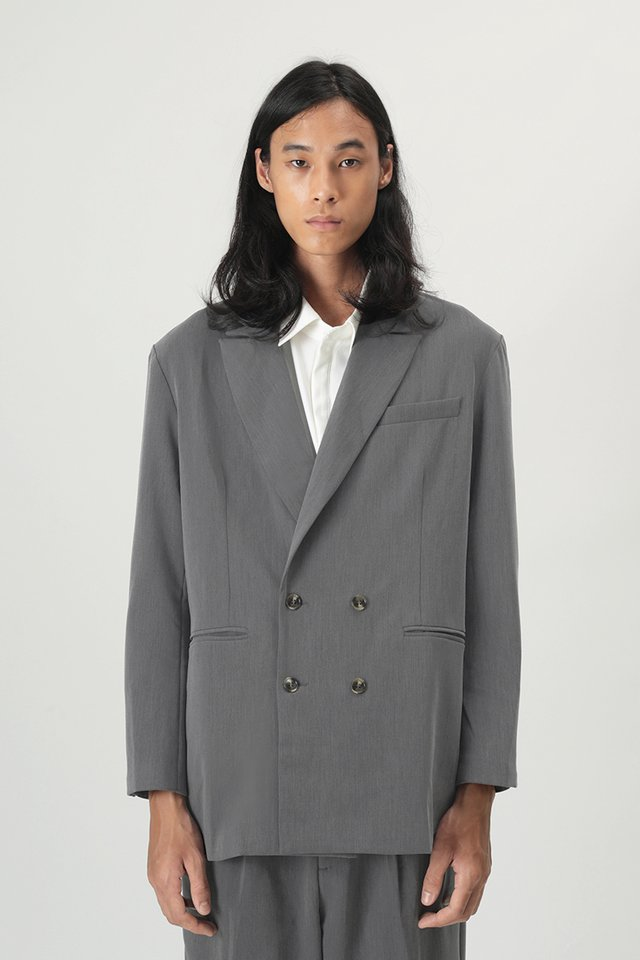 HENDER OVERSIZED BLAZER IN GREY