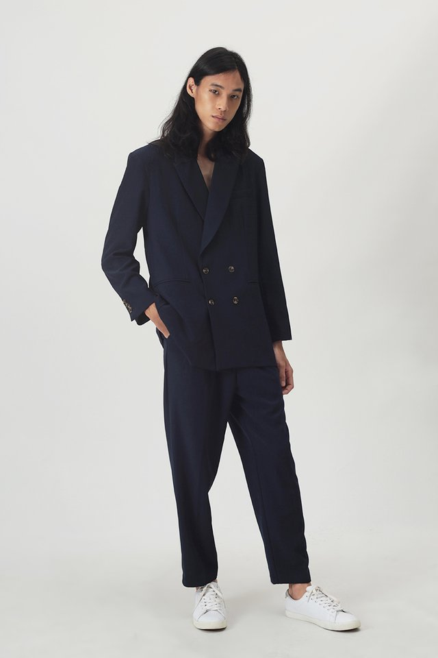HENDER OVERSIZED BLAZER IN NAVY