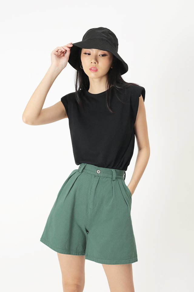 PASCAL MUSCLE TEE IN BLACK