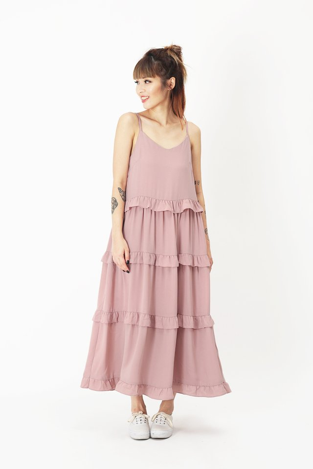 LILA CUPCAKE TIER DRESS IN CANDY PINK