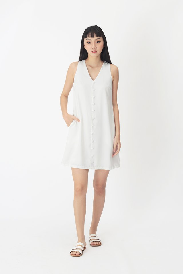 MARIELLE TANK DRESS IN WHITE