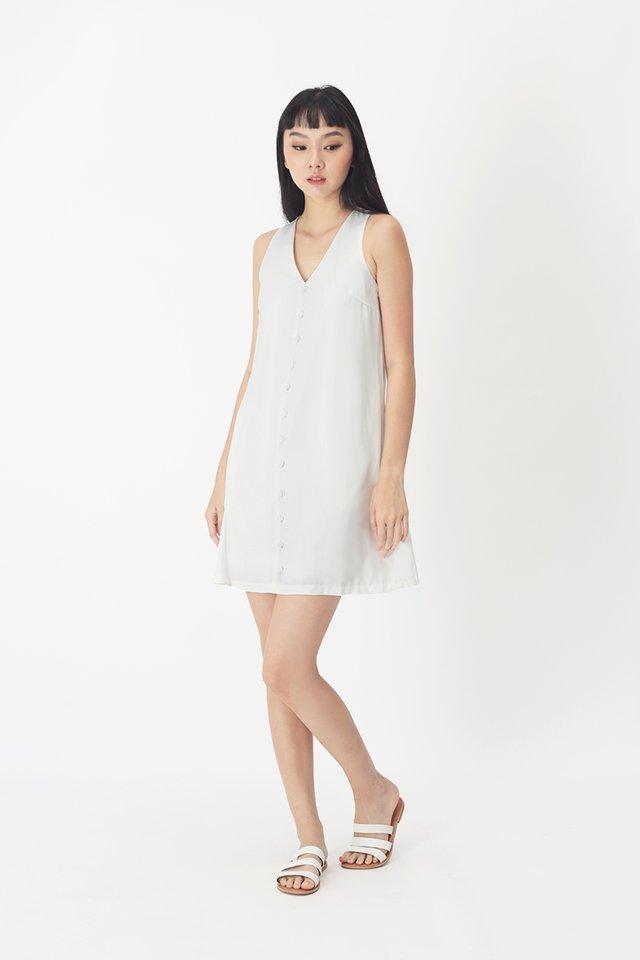 MARIELLE TANK DRESS IN WHITE