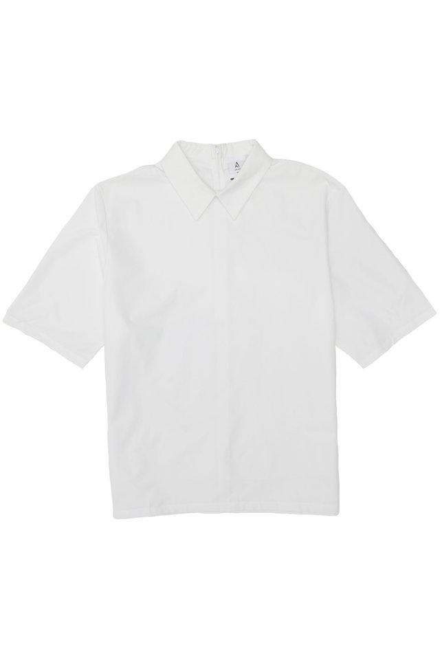 REID POINTED COLLAR SHIRT IN WHITE