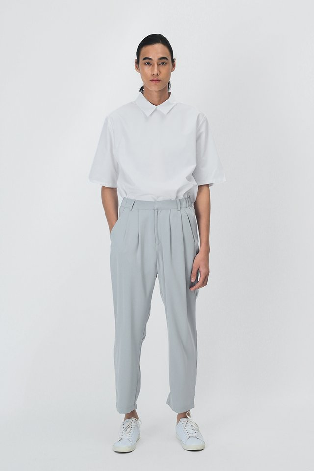 REID POINTED COLLAR SHIRT IN WHITE