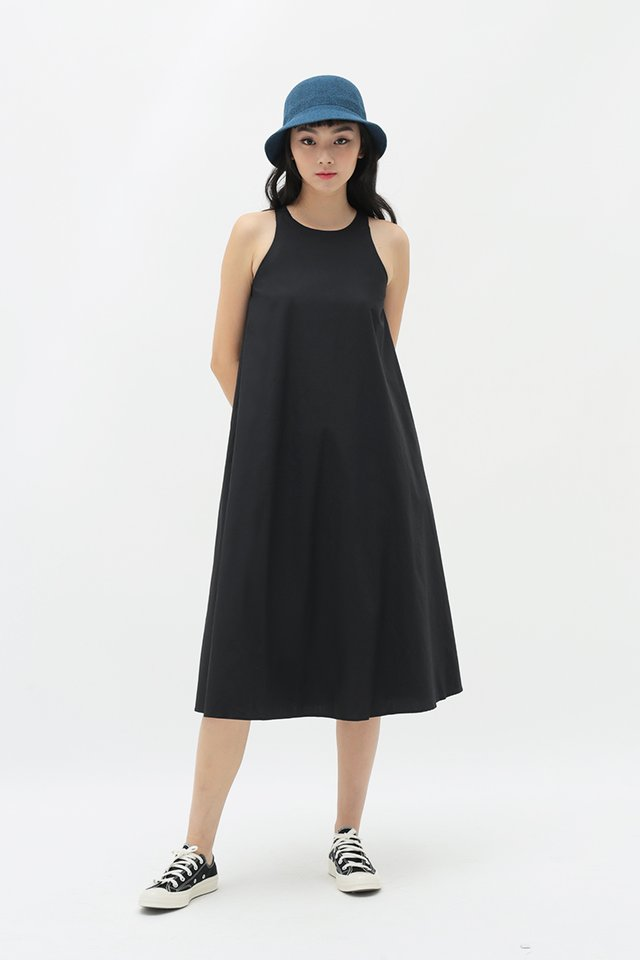 ANNALISE MIDI DRESS IN BLACK