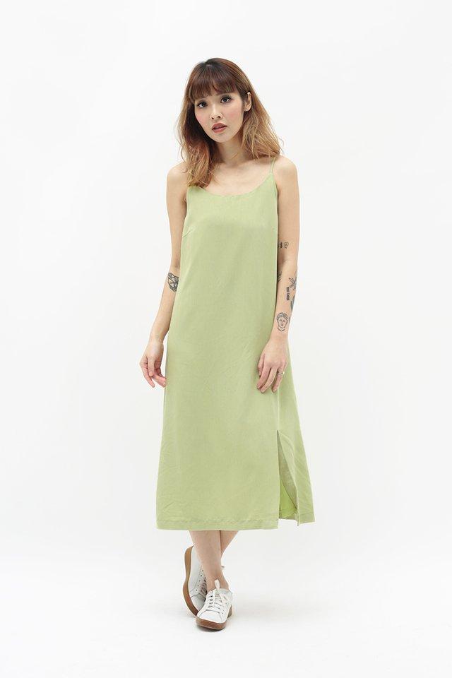 GABRIELLA SPAG DRESS IN APPLE GREEN