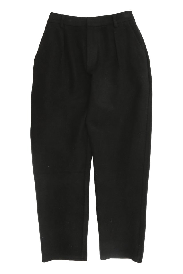 HEATH TAPERED-FIT TROUSERS IN BLACK