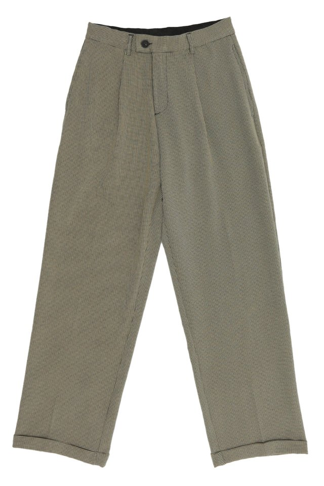 LEE WIDE-LEG HOUNDSTOOTH TROUSERS IN SAND