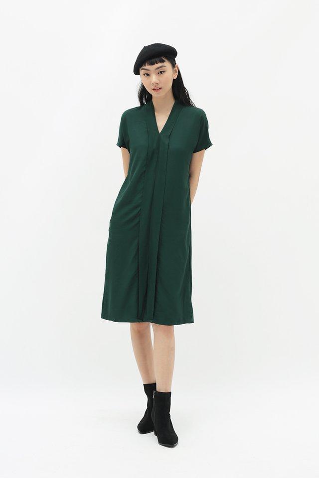 MARRI KIMONO DRESS IN FOREST