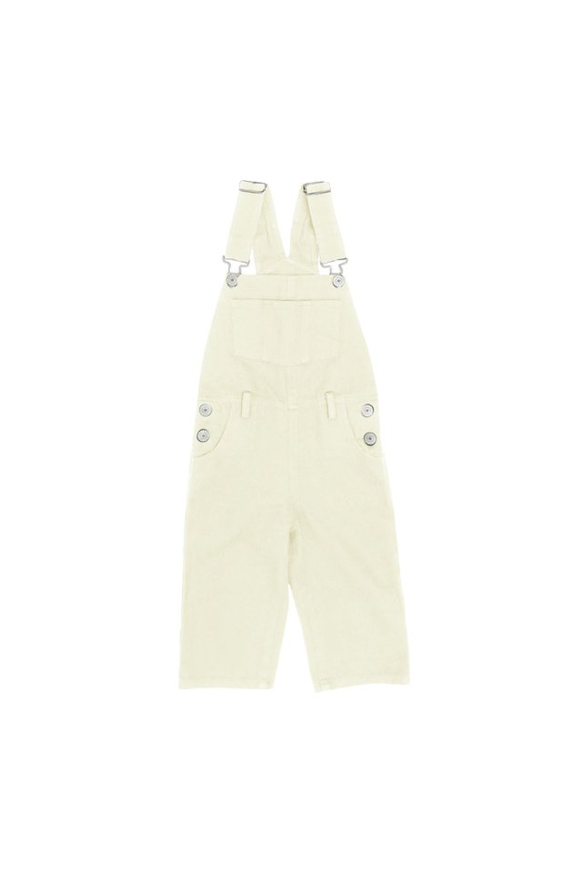 ELROY MINI DUNGAREES IN CREAM