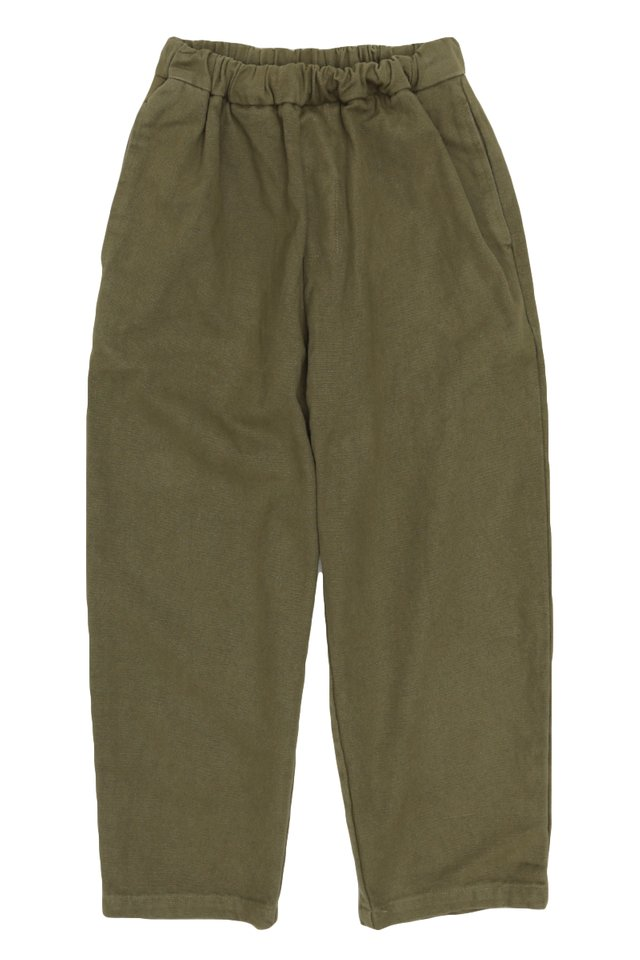 KYOU WIDE-FIT WORK TROUSERS IN OLIVE