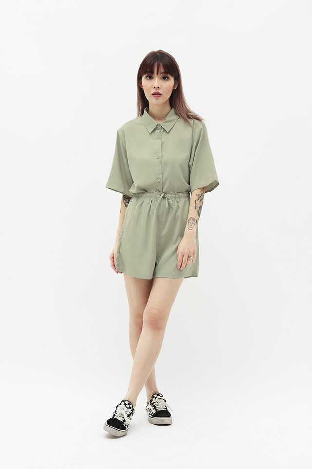SUSIE SHORTS IN SAGE