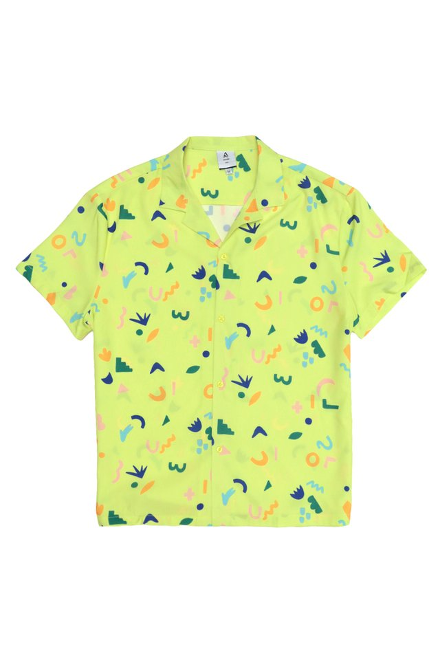 AIDEN DOODLE TIME SHIRT IN LEMON