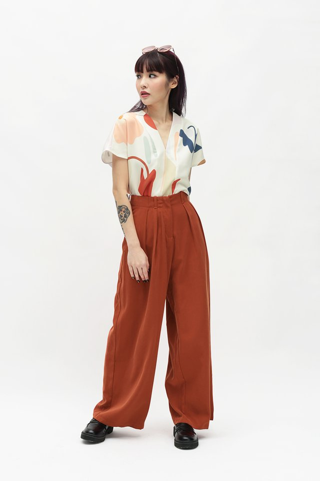 ALY PALAZZO PANTS IN AMBER