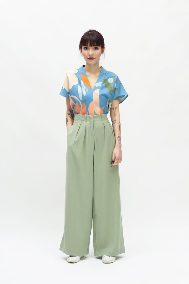 ALY PALAZZO PANTS IN SAGE