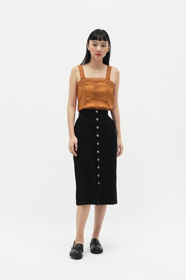 JOELLE PENCIL SKIRT IN BLACK