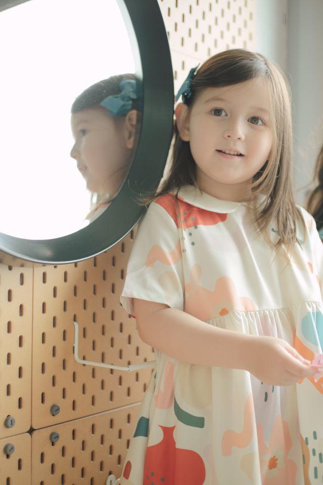 WILDFLOWER CHILD COLLAR DRESS IN CREAM