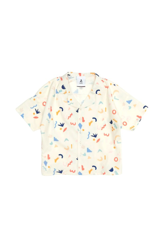 MINI DOODLE TIME SHIRT IN CREAM