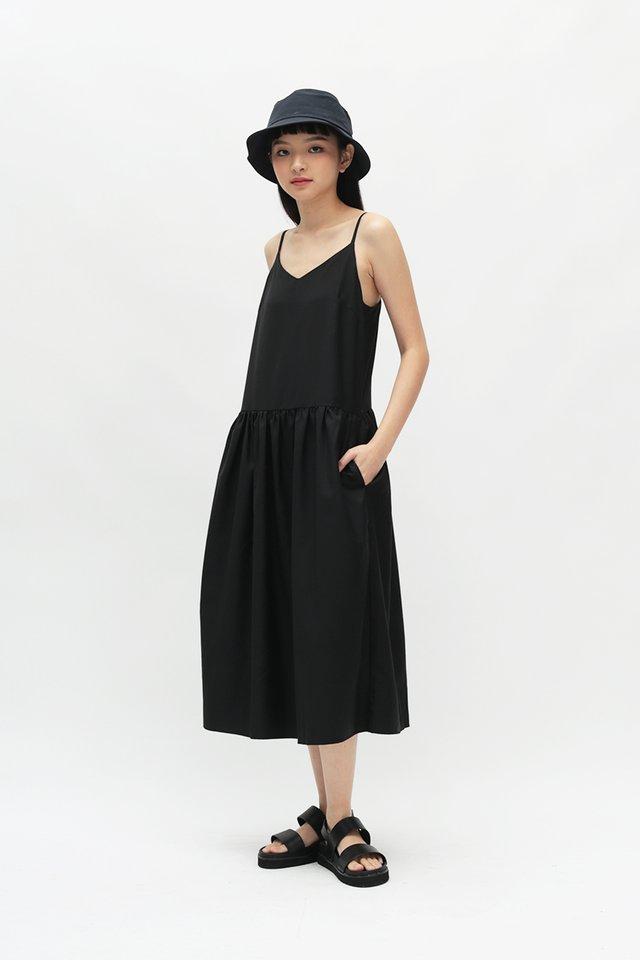 JOVI SPAG DRESS IN BLACK