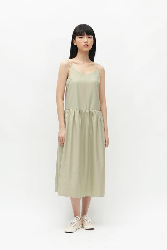 JOVI SPAG DRESS IN FENNEL