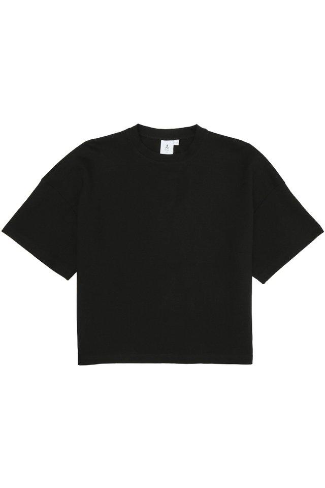 OTTO DROP SHOULDER TOP IN BLACK