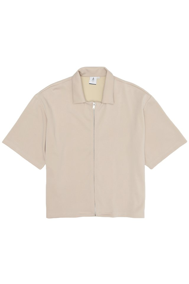 PAXTON ZIP OVERSHIRT IN SAND