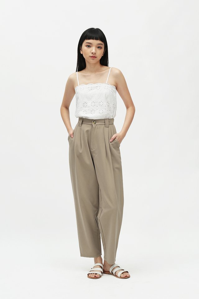 ASHBY PLEATED PANTS IN TAUPE
