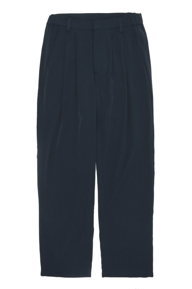 BEAU DRAPE TROUSERS IN NAVY