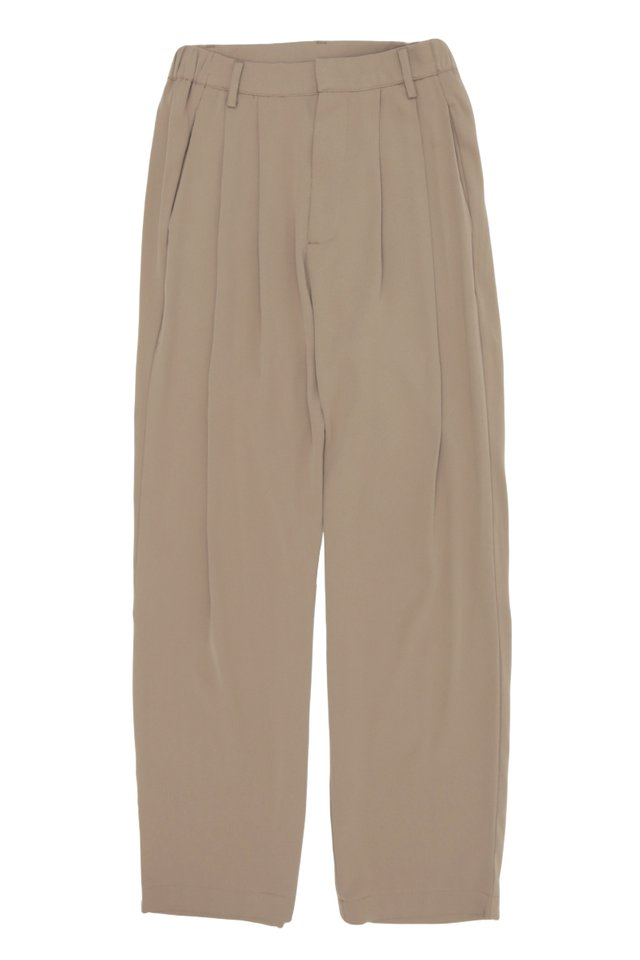 BEAU DRAPE TROUSERS IN TAUPE