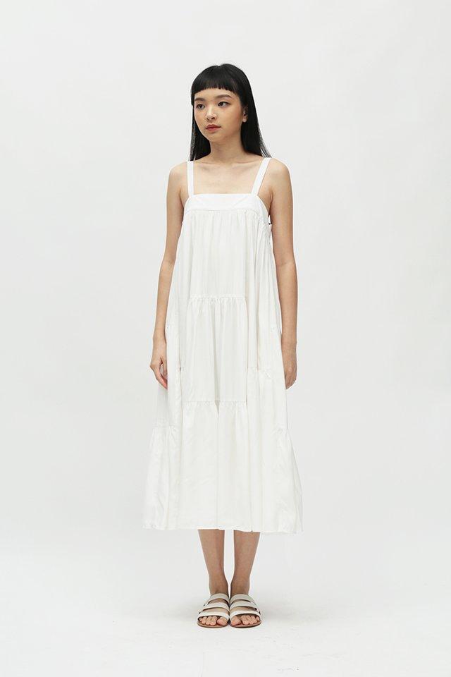 EXIE MULTI PANEL DRESS IN WHITE