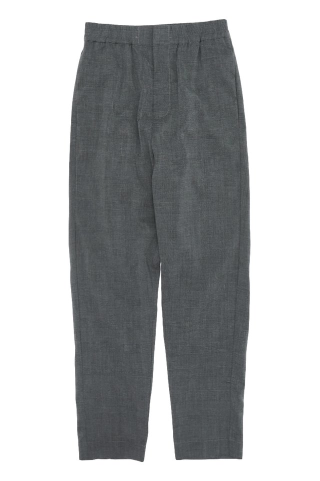GRAYSON SLIM-FIT CHECKED TROUSERS IN CHARCOAL