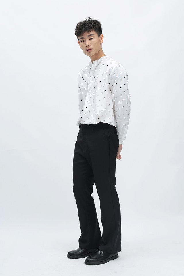 JIMI FLARED TROUSERS IN BLACK