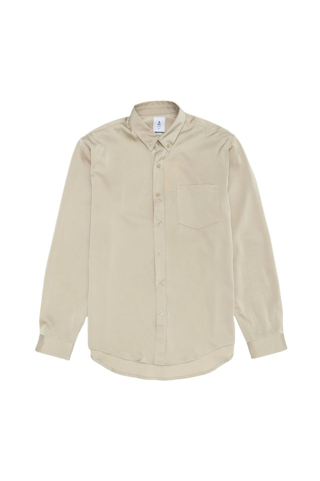 LANE RAYON SHIRT IN CHAMPAGNE