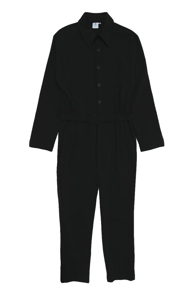 MILLEN LONG SLEEVE JUMPSUIT IN BLACK
