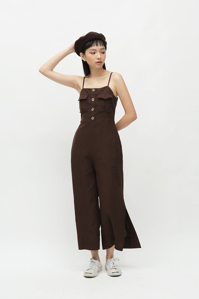 SEYCHELLE POCKET JUMPSUIT IN COCOA