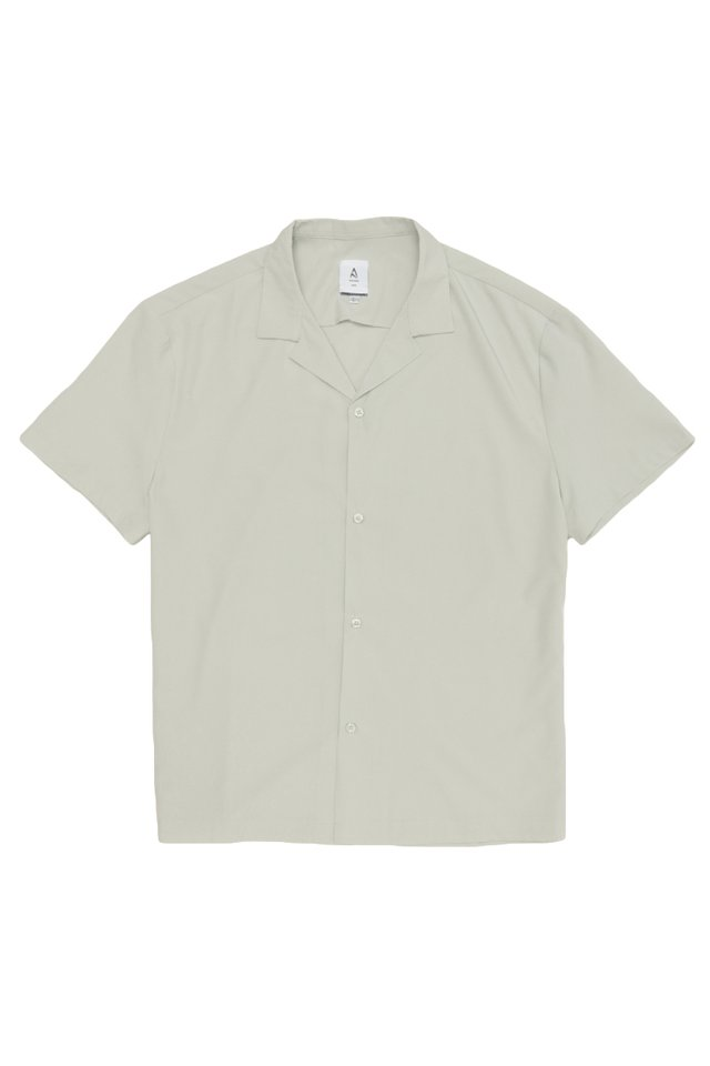 AIDEN CAMP COLLAR SHIRT IN LIGHT SAGE