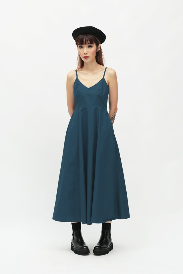 ALEKSANDRA BUSTIER DRESS IN CERULEAN