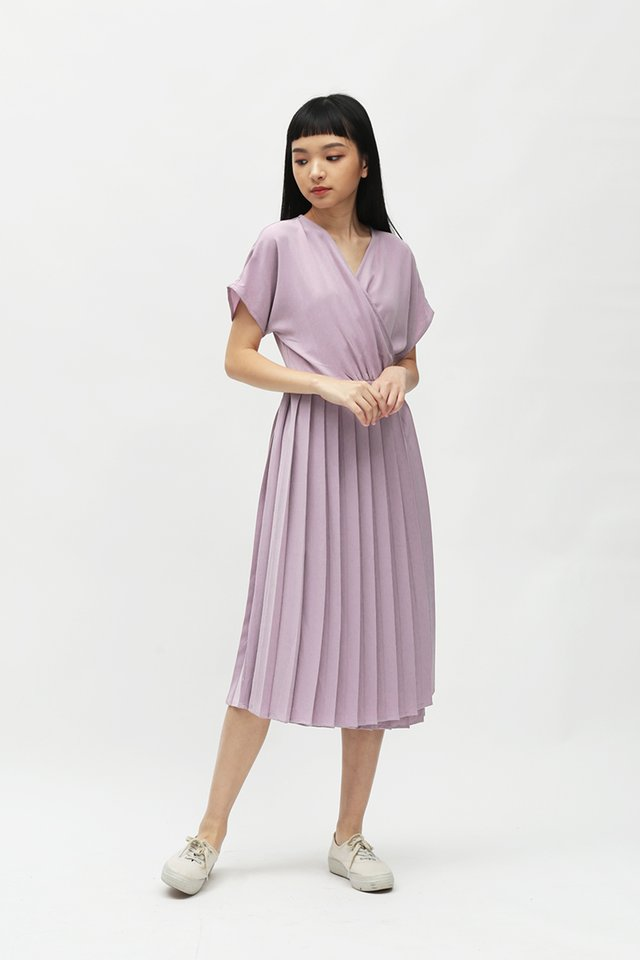 DIANE PLEATED WRAP DRESS IN FRENCH ROSE