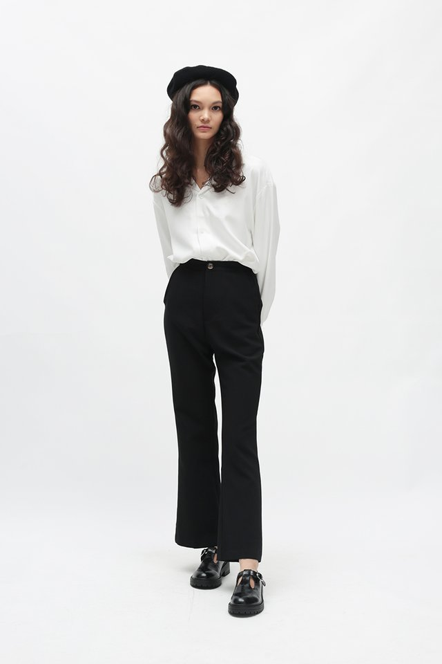 EBONY FLARE PANTS IN BLACK