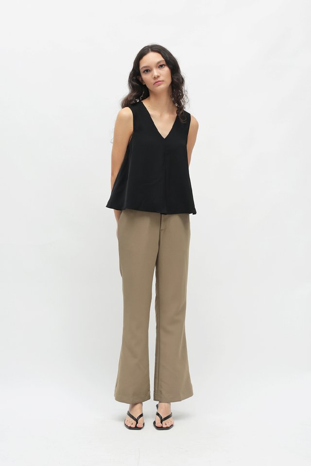 EBONY FLARE PANTS IN TAUPE