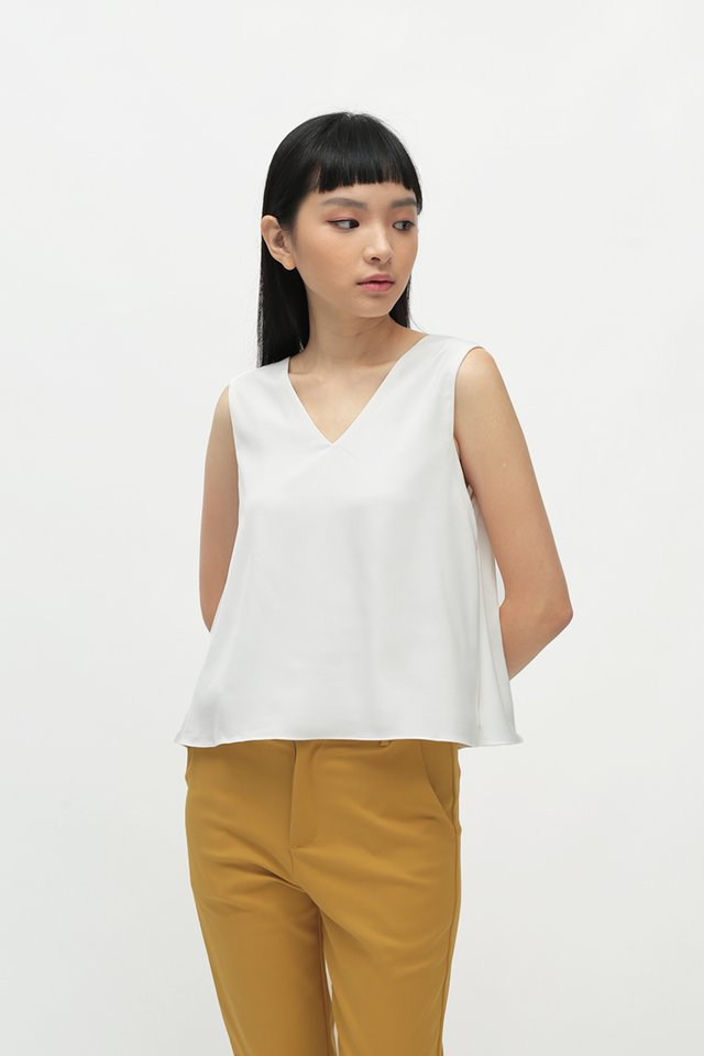 HANA TWO WAY TANK TOP IN WHITE