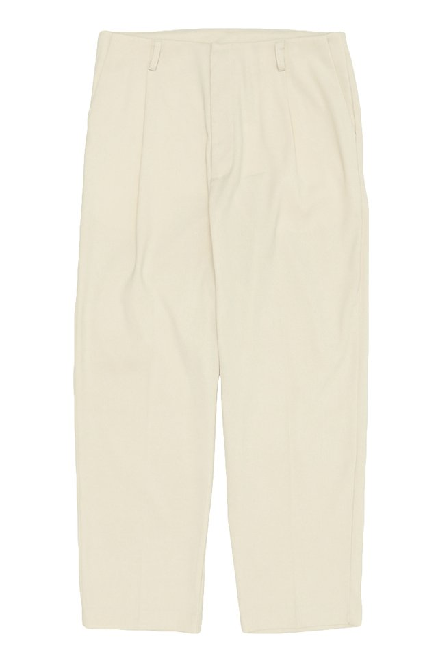 QUINCY TAPERED TROUSERS IN CREAM