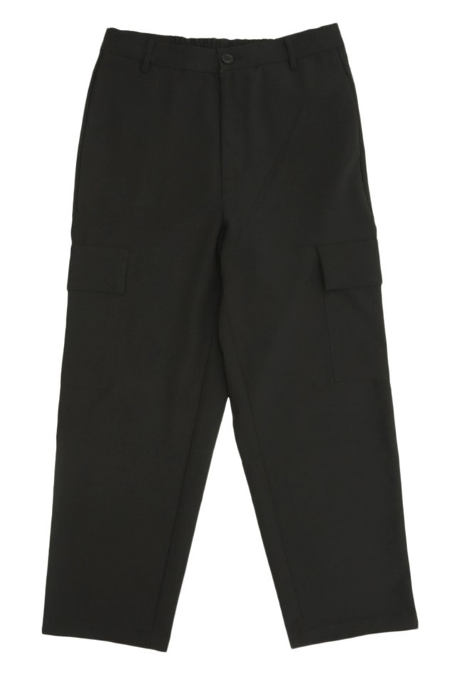 LARS STRAIGHT-FIT CARGO TROUSERS IN BLACK