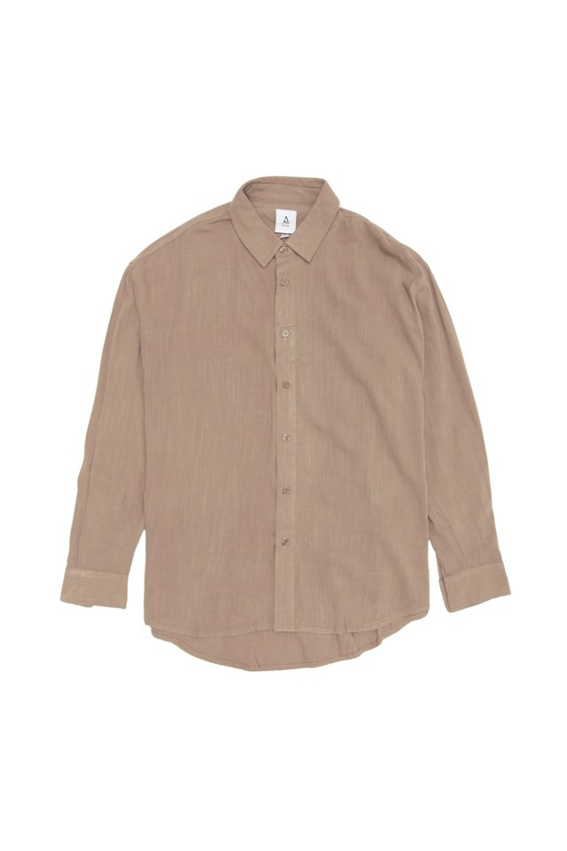 REMY OVERSIZED LINEN SHIRT IN CLAY